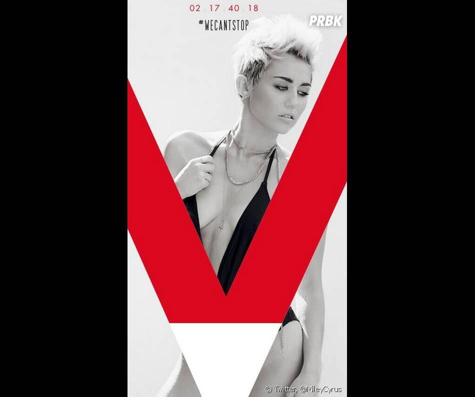 Miley Cyrus sur la pochette sexy de son single We Can't Stop