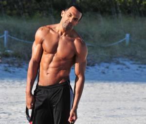 Craig David s'occupe de ses muscles en janvier 2012 à Miami