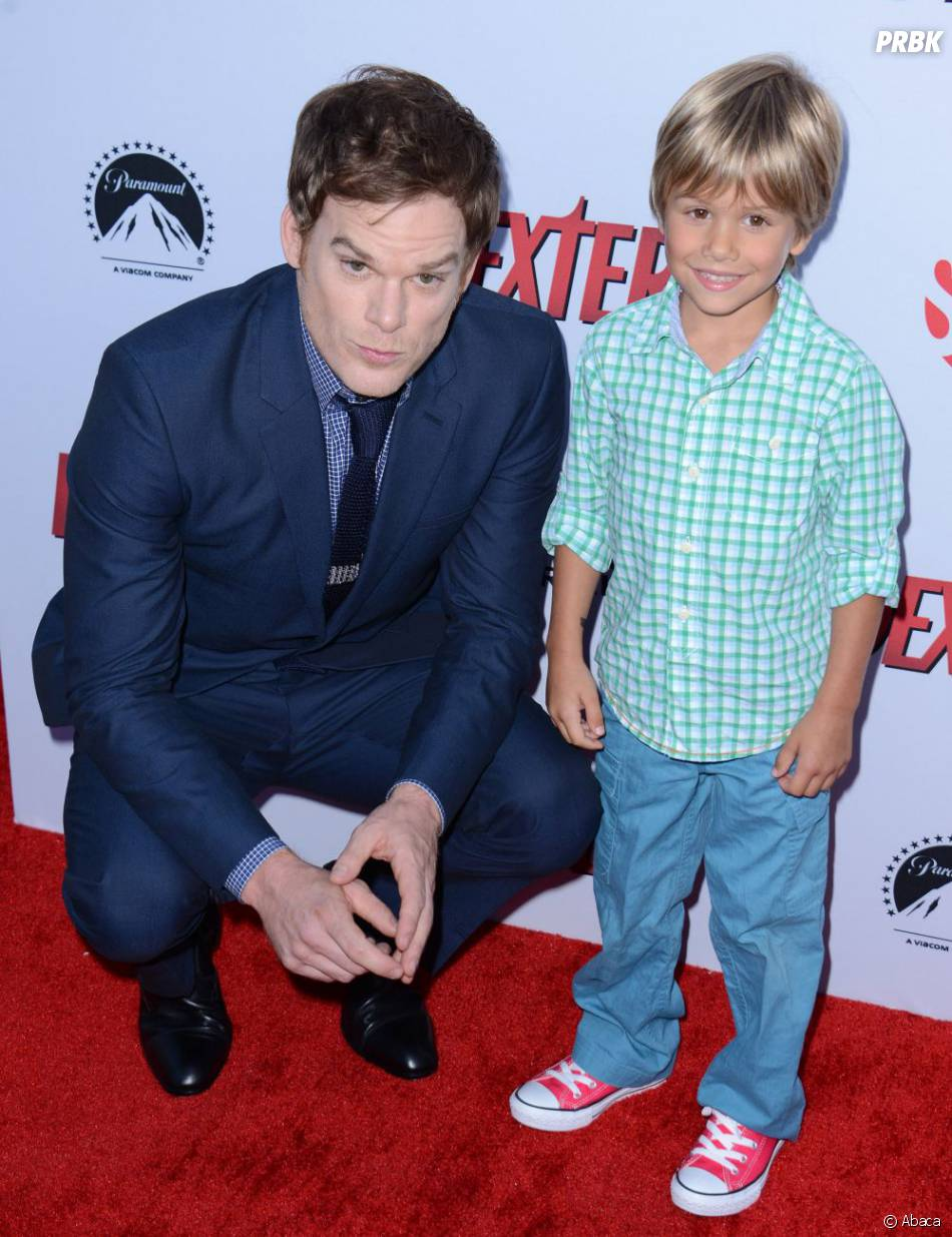 Michael C. Hall et Jaden Wells à la fête Dexter saison 8, le 15 juin 2013 à L.A