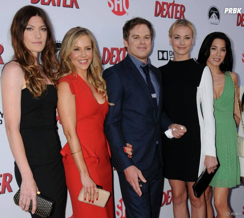 Michael C. Hall bien entouré à la soirée Dexter saison 8, le 15 juin 2013 à L.A