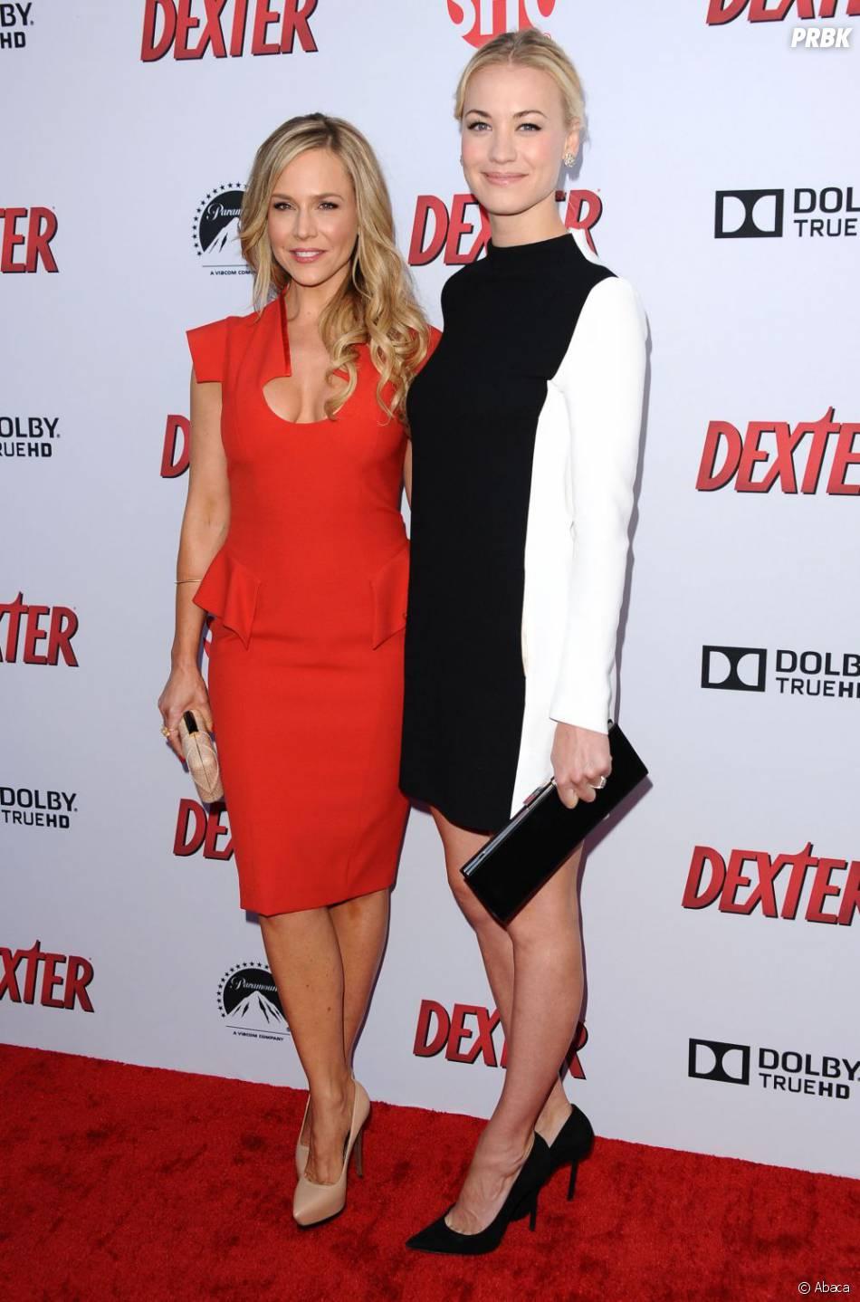 Julie Benz et Yvonne Strahovski, deux blondes réunies pour Dexter saison 8, le 15 juin 2013 à L.A