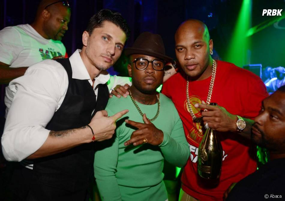 Theo Pasa et Flo Rida fêtent la victoire des Miami Heat en NBA le 22 juin 2013