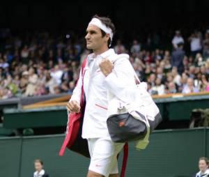 Roger Federer, le 24 juin 2013 pendant le tournoi de Wimbledon
