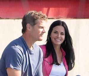 Courteney Cox et Brian Van Holt sur le tournage de Cougar Town