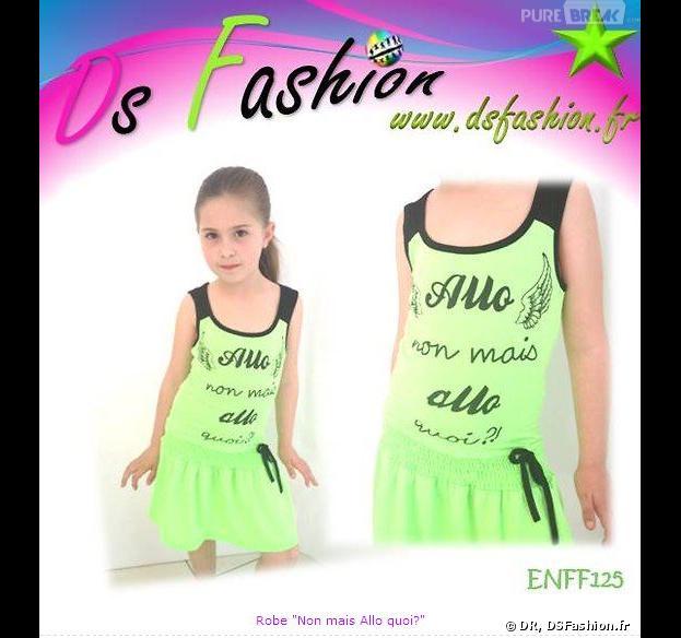 """Nabilla Benattia a désormais son """"non mais allo quoi"""" imprimé sur une robe pour petites filles"""