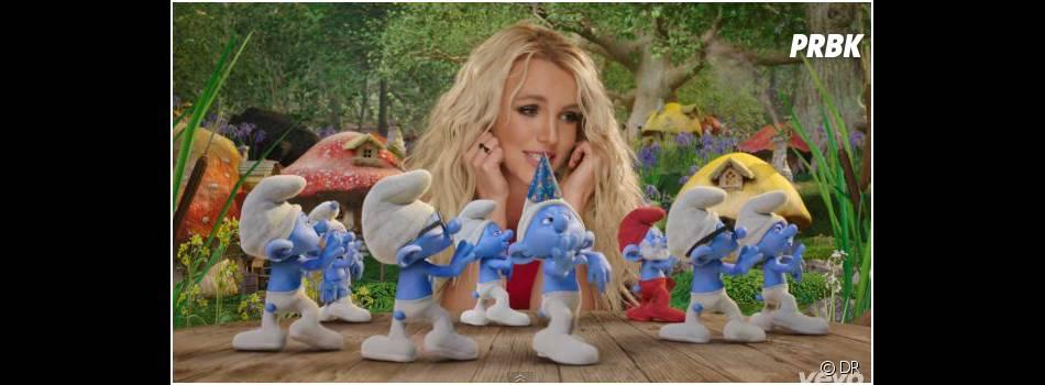 Britney Spears au milieu des Schtroumpfs pour Ooh La La