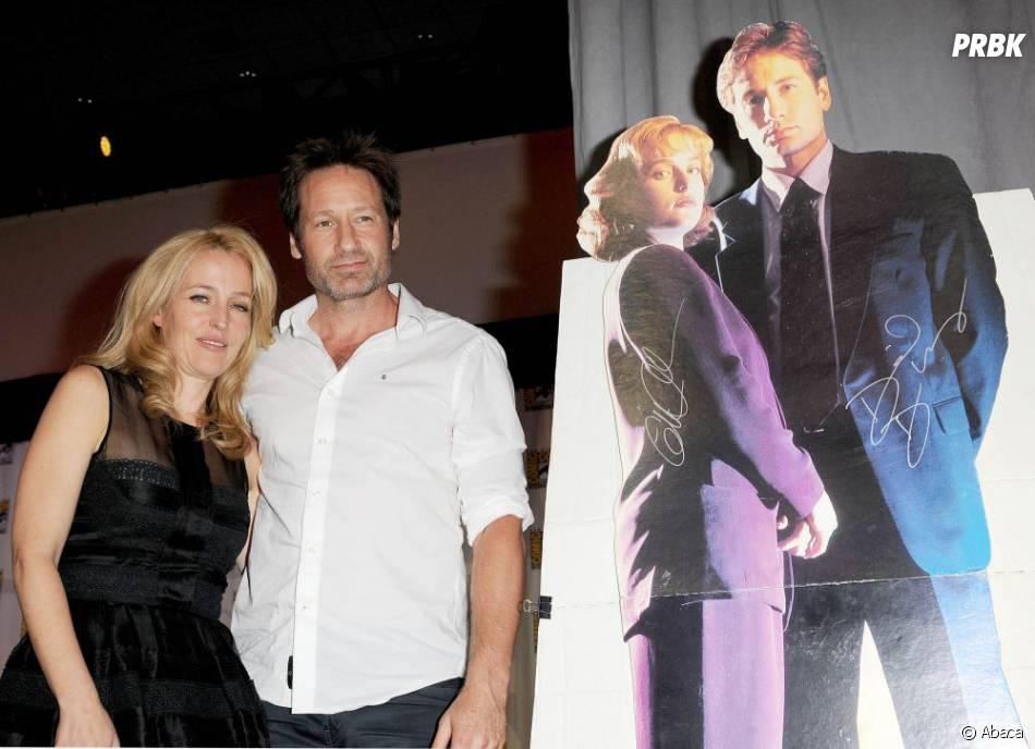 Gillian Anderson et David Duchovny réunis pour le Comic Con le 18 juillet 2013
