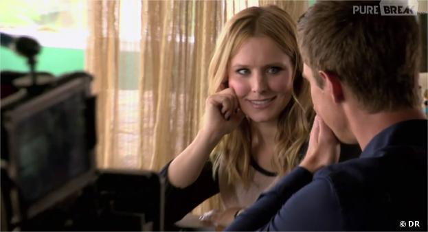 veronica mars kristen bell et jason dohring sur le tournage. Black Bedroom Furniture Sets. Home Design Ideas