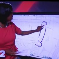Une présentatrice dessine un pénis en plein direct : une vidéo au garde à vous !