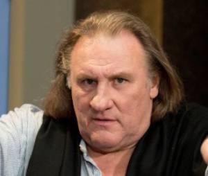 Gérard Depardieu en tournage à Paris