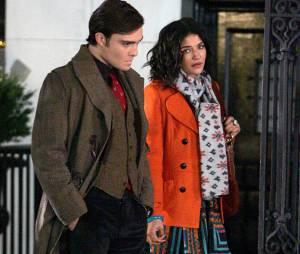 Ed Westwick et Jessica Szohr sur le tournage de Gossip Girl