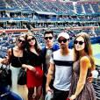 Nick Jonas en compagnie de son frère Joe et d'Olivia Culpo aux championnats de l'US Open