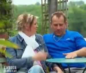 L'amour est dans le pré 2013 : Gilles et Katia se confient à Karine Le Marchand.