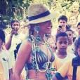 Beyoncé prend la pose au Brésil, le 17 septembre sur Instagram.