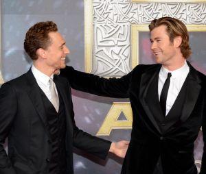 Chris Hemsworth et Tom Hiddleston à l'avant-première de Thor : le monde des ténèbres à Berlin le 27 octobre 2013