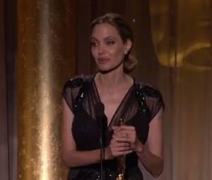 Angelina Jolie : discours émouvant, le 16 novembre 2013 à Hollywood