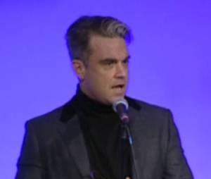 Robbie Williams aux Q Awards le 21 octobre 2013