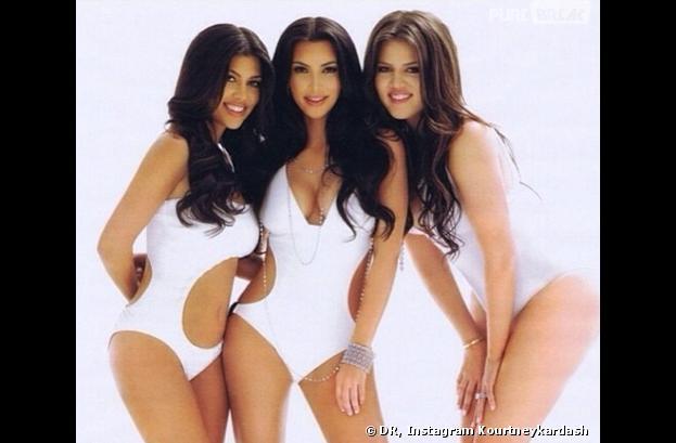 Kim Kardashian prend la pose avec ses soeurs Kourtney et Khloe