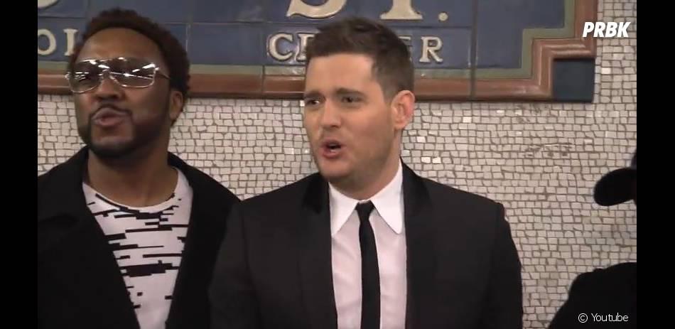 Michael Bublé en mode crooner dans le métro de New-York