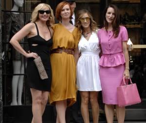 Sarah Jessica Parker, Kristin Davis, Cynthia Nixon et Kim Cattrall pendant le tournage de Sex and the City 2 en 2009