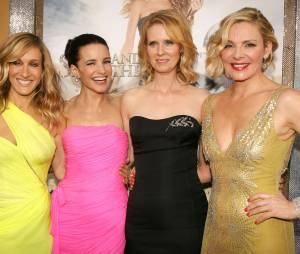 Sarah Jessica Parker, Kristin Davis, Cynthia Nixon et Kim Cattrall pendant la promo de Sex and the City 2 en 2010