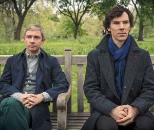 Sherlock saison 3 : Martin Freeman et Benedict Cumberbatch dans l'épisode 2