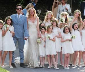 Kate Moss et Jamie Hince le jour de leur mariage en 2011