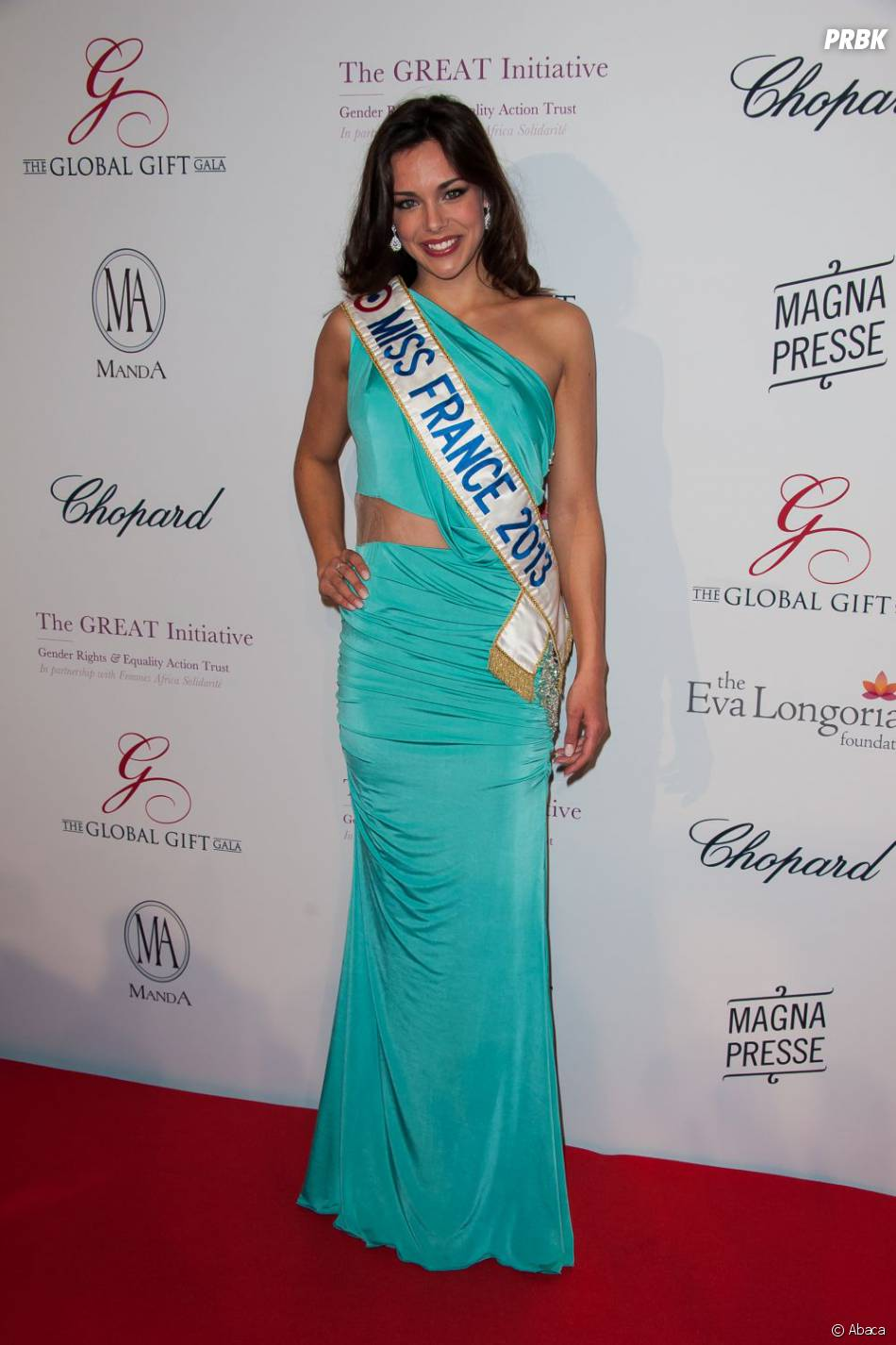 Marine Lorphelin (Miss France 2013)au Global Gift Gala 2013