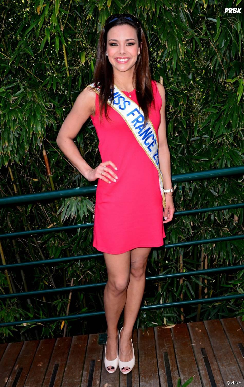 Marine Lorphelin (Miss France 2013)dans la zone VIP de Roland Garros 2013
