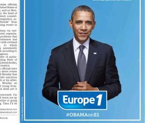 Europe 1 demande à interviewer Barack Obama par le biais d'une publicité publiée dans le Washington Post américain.