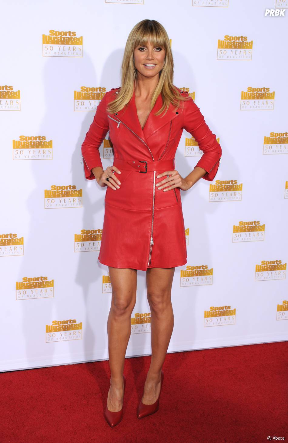 Heidi Klum à la soirée Sports Illustrated Swimsuit, le 14 janvier à Los Angeles