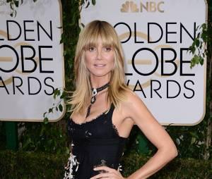 Heidi Klum en solo aux Golden Globes 2014