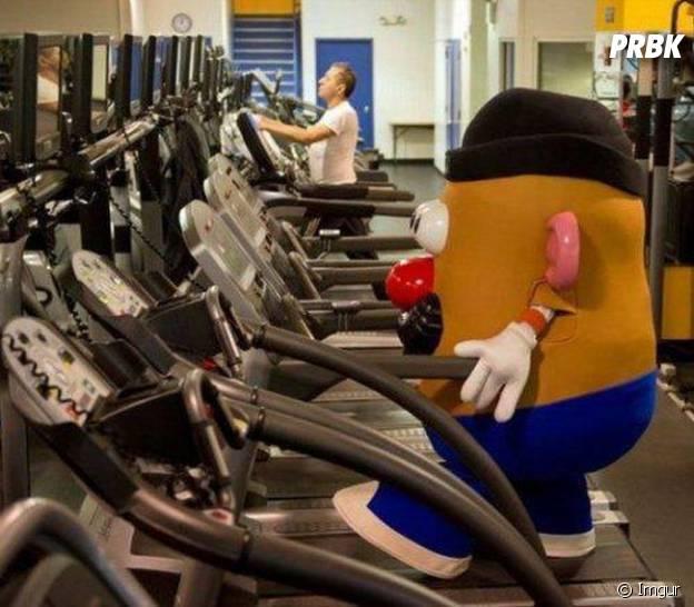 Monsieur Patate à la salle de gym