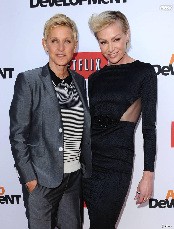 Ellen DeGeneres et Portia De Rossi à l'avant-première d'Arrested Development saison 4, le 29 avril 2013 à Los Angeles