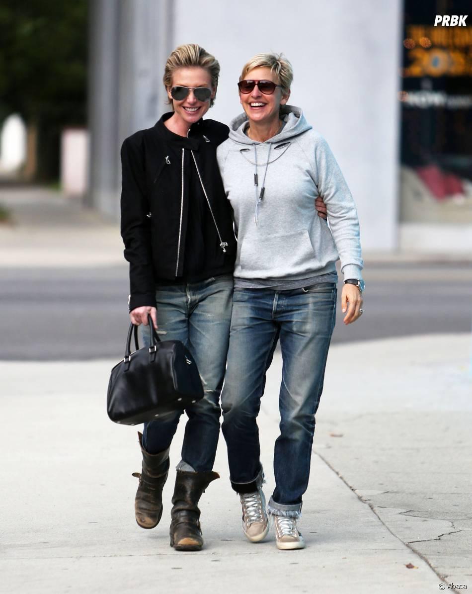 Ellen DeGeneres et Portia De Rossi : balade en couple, le 15 novembre 2013 à Los Angeles