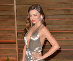 Miranda Kerr fait sensation sur le tapis rouge, le 2 mars 2014 à Los Angeles pour la soirée Vanity Fair des Oscars