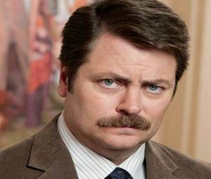 Ron Swanson (Parks and Recreation) – La moustache la plus normale
