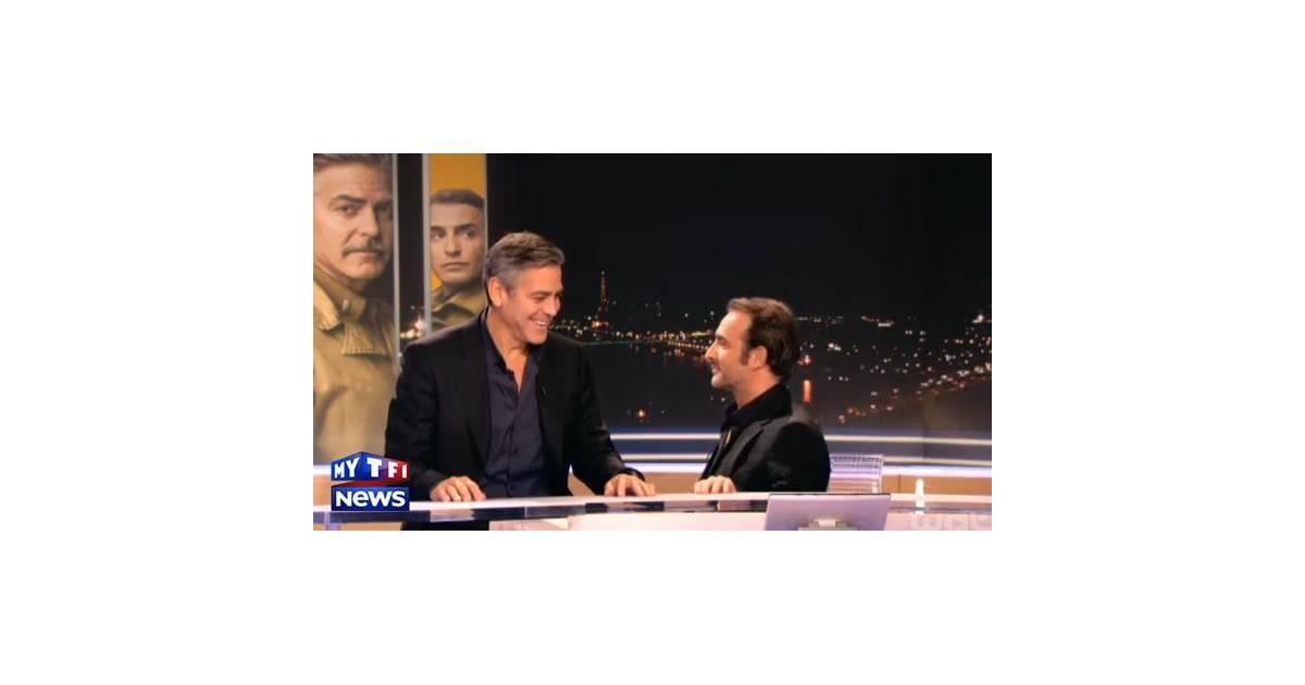 Jean dujardin et george clooney d lire entre amis au jt for Dujardin tf1