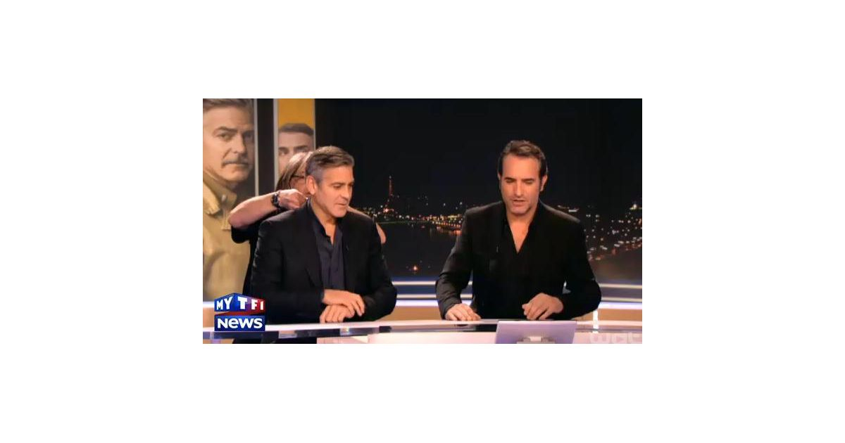 Jean dujardin et george clooney complices sur le plateau for Dujardin tf1