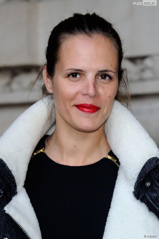 Laure Manaudou à la Fashion Week de Paris, le 26 février 2014