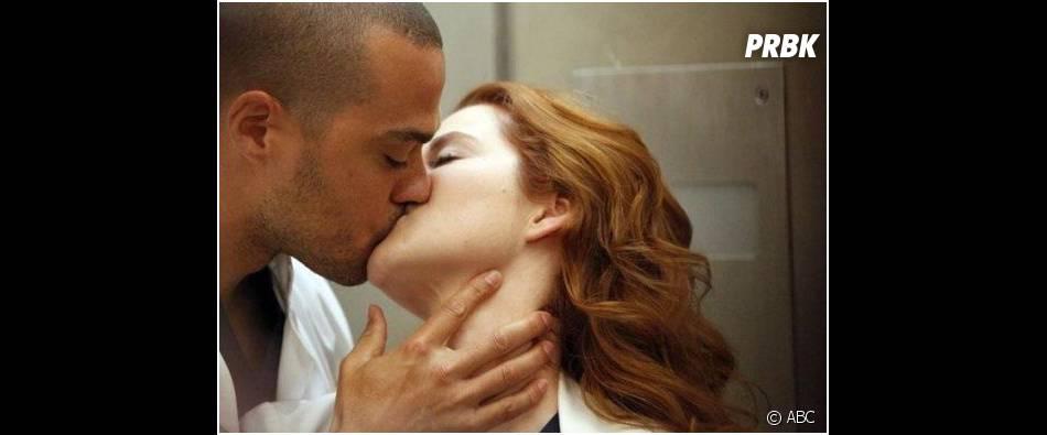 Grey's Anatomy saison 10, épisode 18 : April et Jackson en plein baiser passionné