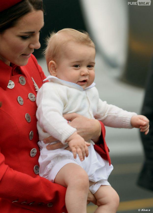 Kate Middleton, le Prince George et le Prince William : voyage officiel en famille en Nouvelle-Zélande, le 7 avril 2014