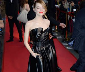 The Amazing Spider-Man 2 : Emma Stone prend la pose à l'avant-première du film à Paris le 11 avril 2014