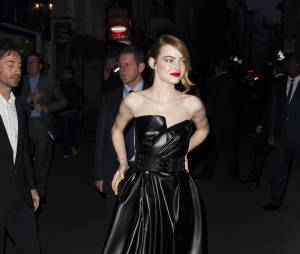 The Amazing Spider-Man 2 : Emma Stone en cuir à l'avant-première du film à Paris le 11 avril 2014