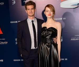 The Amazing Spider-Man 2 : Emma Stone et Andrew Garfield amoureux à l'avant-première du film à Paris le 11 avril 2014