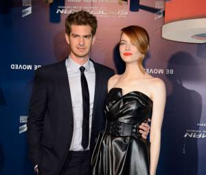 The Amazing Spider-Man 2 : Emma Stone et Andrew Garfield à l'avant-première du film à Paris le 11 avril 2014