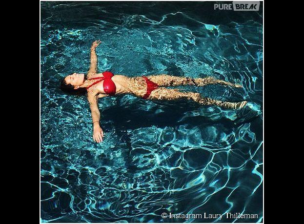 Laury Thilleman en bikini sur Instagram, le 23 avril 2014