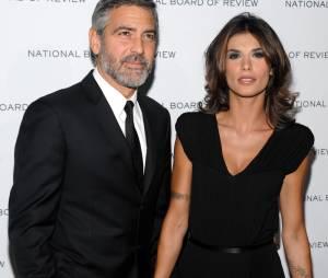 George Clooney et son ex Elisabetta Canalis à New York en janvier 2010.