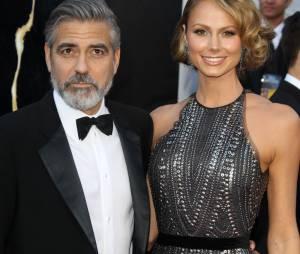 George Clooney et son ex-femme Stacy Keibler en février 2013 à Los Angeles.