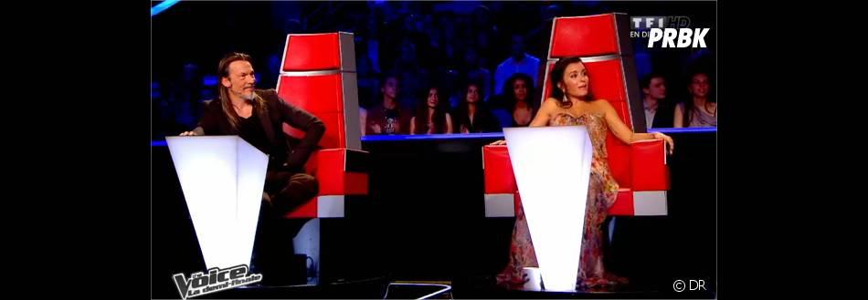 Jenifer et Florent Pagny lors des demi-finales de The Voice 3 le 3 mai 2014